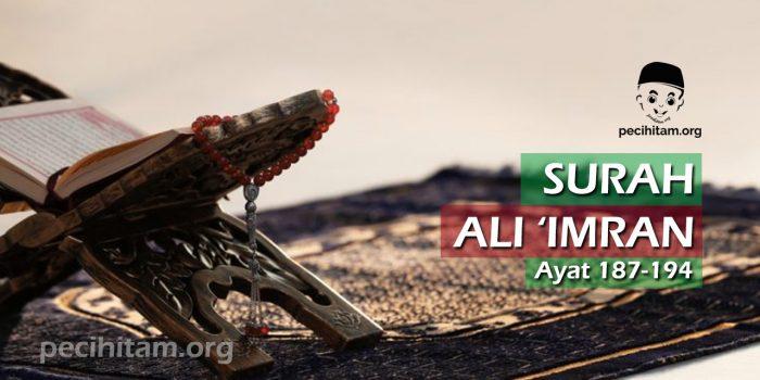 Ali Imran Ayat 187-194
